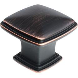 """SH3056-ORB-10 10-Pack, Traditional Square Cabinet Drawer Knob, 1-1/4"""", Oil Rubbed Bronze Finish, 10 Piece"""
