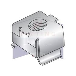 10-24 Cage Nuts Free Floating Square Nut within a Spring Steel Cage Square Nut: Class 304 J3 Stainless Steel Cage: Class 304 3/4-Hard Stainless Steel C7941SS-1024-2 (Quantity: 500)