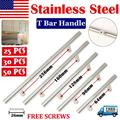 """Pack of 25 Stainless Steel Kitchen Cabinet Door Knob T Bar Drawer Handle Pulls 4"""""""