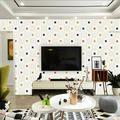 Yinrunx 10PCS 3D Wall Panel Roof Self-Adhesive Ceiling Wallpaper Foam Panel Wall Panels Foam Brick Cream Painted Stone Effect Wall Tiles Peel Stick Foam Planks for Living Room TV Background Decor Tile