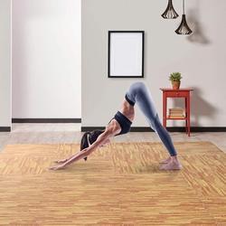 Soft Wood Grain EVA Puzzle Foam Interlocking Floor Mats 72 Square Feet Exercise Workout Mat Kid Mat 18pcs - Light Wood Grain
