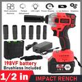 BLUKIDS 21V Cordless Impact Wrench Kit -(330 N.m) Torque, 1/2 inch Detent Anvil, 2900 Max IPM, High Power, Belt Clip; 4.0 Ah Battery, Fast Charger & Carrying Case Included