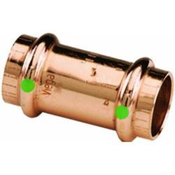 Viega 78052 ProPress Zero Lead Copper Coupling with Stop 3/4-Inch P x P