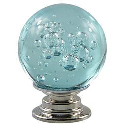 KABOER 4 Packs Crystal Glass Cabinet Knob 30mm Round Crystal Drawer Pulls for Cabinets,Wardrobes,Drawers,Dresser