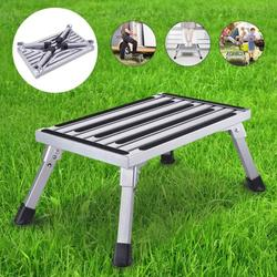 Foldable Step Stool Platform Step Ladder,Step Stool for Adults and Seniors, Heavy Duty Metal Stepping Stool for High Beds,Portable Foot Step Stool for Elderly, 550 lb Weight Capacity