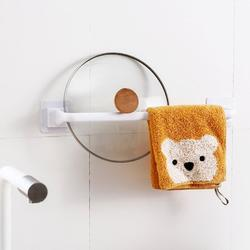 ROBOT-GXG Self Adhesive Towel Rack - Towel Rack for Bathroom Wall Mount - 13.4-Inch Self Adhesive Bathroom Towel Bar Rail Towel Rack Free-Drilling Wall Hanging Towel Bar Rod Bathroom Towel Holder