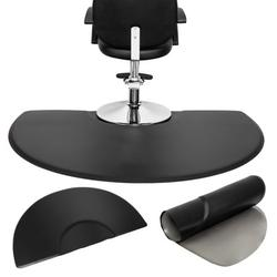 Kepooman 3' x 5' Salon Anti Fatigue Mats, Beauty Salon PU Rectangle Salon Mat, Standing Mat, Half Round Salon and Barber Shop Chair Anti-Fatigue Floor Mat for Hair Stylist, Black