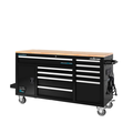 FRONTIER 62-inch W x 37-inch H x 22-inch D, Heavy Duty Mobile tool chest, tool cabinet with 10 drawers in Black