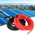 Aramox Solar Extension Wire,Outdoor 10AWG Solar Panel Extension Cable Wire Cord with Connector Adapter Accessory,Solar Extension Wire Connector