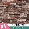 Stone Peel and Stick Wallpaper, Self Adhesive Wallpaper, Peel and Stick Backsplash Wallpaper Shelf Paper, 3D Faux Textured Stone Wall Look Brick Wallpaper