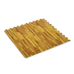 Suzicca Soft Wood Grain EVA Puzzle Foam Interlocking Floor Mats 72 Square Feet Exercise Workout Mat Kid Play Mat 18pcs - Light Brown Wood