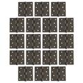 "18 Pack of Square Corner Door Hinges 4"" x 4"", Oil Rubbed Bronze"