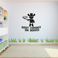 Baby Cowboy Onboard Quote Cute baby Cowboy Silhouette Cowboy Hat Baby Vinyl Wall Art Wall Sticker Wall Decal Home Kids Room Study Room Boys Room Wall Décoration Design Décor Size (10x10 inch)