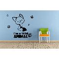 Cute Fox Wild Foxes Animal Jungle Zoo Wildlife Wall Sticker Art Decal for Girls Boys Room Bedroom Nursery Kindergarten House Fun Home Decor Stickers Wall Art Vinyl Decoration Size (40x40 inch)