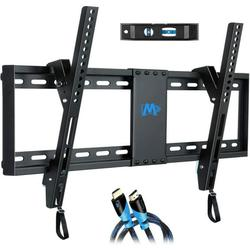 """Mounting Dream UL Listed TV Mount for Most 37-70 Inches TVs, Universal Tilt TV Wall Mount Fits 16"""", 18"""", 24"""" Studs with Loading 132 lbs & Max VESA 600x400mm, Low Profile Wall Mount Bracket MD2268-LK"""