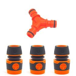 Plastic Y-Shaped 3-Way Pacifier Connector ID 12MM 19MM 1 for 2 Quick Connector for Garden Water Pipes