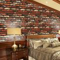 Deals on Gift for Holiday!3D Brick Wall Stickers Self-Adhesive PVC Wallpaper Peel and Stick 3D Art Wall Panels for Living Room Bedroom Background Wall Decoration