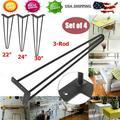 "4 Pcs 22""Hairpin Table Legs Heavy Duty Satin Black Steel Rods for Industrial"