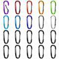 Gimars Improved Durable 2 Inch X 20 Pcs Small Mini Carabiner Clips Assorted Colors D Shape Spring-Loaded Gate Aluminum Carabiner Keychain for Home, Camping, Hiking, Fishing, Bottle, Backpack