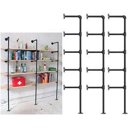 Industrial Retro Wall Mount Iron Pipe Shelf,DIY Open Bookshelf,Hung Bracket,Home Improvement Kitchen Shelves,Tool Utility Shelves, Office Shelves,Ceiling Mount Shelf Shelves