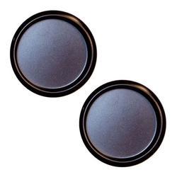 2 Pack of Sliding Bypass Closet Door 2 1/8� Flush Finger Pulls, Oil Rubbed Bronze