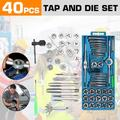 2021! 40-Piece Master Metric Tap and Die Set - M3-M12 Nut Bolt - Alloy Metal Hand Tools - Garage Tool Home Tool Kit with Case