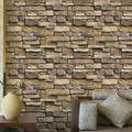 """Stone Wallpaper, PVC 3D Effect Blocks Peel and Stick Wallpaper for Home Decoration (17.71""""x39.3"""")"""