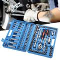DOACT Tool Kit,108Pcs Ratchet Wrench Set 1/4in 1/2in CR40 Steel Socket Set Tool Case + Box Hand Tool Kits,Ratchet Wrench Set