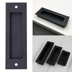 LYUMO Sliding Door Pull Wardrobe Handle Black Matte Finish Retro Furniture Handle, Barn Door Handle, Concealed Drawer For Barn Door Cabinet Drawer Wood Door