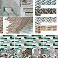 9/18/27/54/108 Packs Self Adhesive 3D Wall Stickers Wallpaper Brick Ceramic Tile Wall Stickers Panels Decals Removable