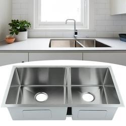Garosa Kitchen Sink,Undermount Double Bowl Basin Stainless Steel Kitchen Sink Washbasin for Home Hotel Restaurant Use,Undermount Sink