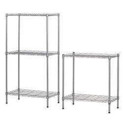 Wire Storage Shelves, 5 Tier Metal Garage Tower Racks and Shelving, Kitchen Racks Storage Shelves for Garage, Heavy Duty Storage Shelves, Multipurpose Kitchen Storage Racks Storage Shelves, S10138