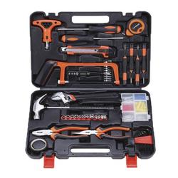 82-Piece Tool Set - General Household Hand Tool Kit with Plastic Toolbox Storage Case,Multifunctional Hardware Toolbox, Electrician And Woodworking Repair Manual Tool Set
