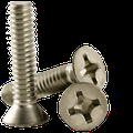 """#4-40 x 1-1/4"""" Machine Screw, Stainless Steel (18-8), Phillips Flat Head (inch) Head Style: Flat, (QUANTITY: 1000) Drive: Phillips, Thread: Coarse Thread (UNC), Fully Threaded"""