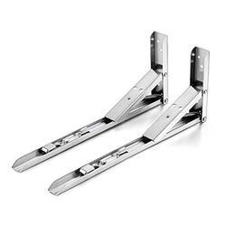 Folding Shelf Brackets,Foldable Wall Mount Shelf-Bracket, Suitable for Table, Desk, Work Bench -2 Pack 10Inch-Stainless SteelÂ