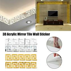 Wall Stickers,3D Removable Acrylic wallpaper border sticker, Waterproof Wall Stickers Art DIY Decor for Home Office Wall Foot Line Wallpaper Borders Skirting Line