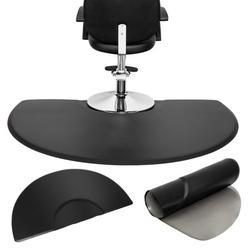 Topcobe Salon Anti Fatigue Mats, 3' x 5' Beauty Salon PU Rectangle Salon Mat, Standing Mat, Half Round Salon and Barber Shop Chair Floor Mat for Hair Stylist, Black