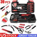 New Arrival 39-Piece General Tool Set-Essential Household Hand Tool Kit with Portable Toolbox Storage Case