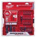 48-32-4408 Shockwave Drive & Fasten Bit Set, 26-Piece screwdriver bit set By Milwaukee Electric Tool