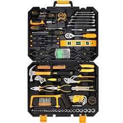 COMOWARE 168 Piece Tool Set- General Household Hand Tool Kit, Socket Wrench Auto Repair Tool Combination Package Mixed Tool Set with Plastic Toolbox Storage Case, Rv tool set