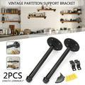 "Bracket Set of 2 Floating Shelf Brackets - 9"" 11"" Steel Rod with 3/4"" Diameter Powder Coated Finish Rustproof Blind Shelf Supports Flush Includes Screws&Wall Anchor"