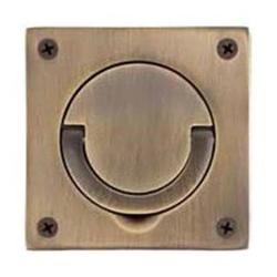 Baldwin 0397003 Flush Ring Pull - Polished Brass