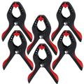 6-piece Heavy Duty Spring Clamp Set, 4.2-inch Nylon Clamps with Soft Bi-material Handle for Woodworking, Photography Studios and DIY Works
