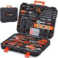 REXBETI 217-Piece Tool Kit, General Household Hand Tool Set with Solid Carrying Tool Box, Auto Repair Tool Sets