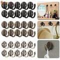 """Spencer 10Pcs Rustic Cast Iron Hat Rack Coat Hooks for Wall Mount with 20 Screws for Farmhouse, Coats, Bags, Hats, Towels """"Silver"""""""