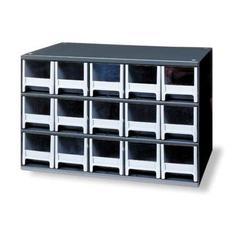 AKRO-MILS 19715 Drawer Bin Cabinet, 11 In. D, 17 In. W