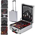 Tool Box with Tools 799pcs Household Tool Set with Aluminum Trolley Case, Auto Repair Tool Kit Toolbox and Wheels