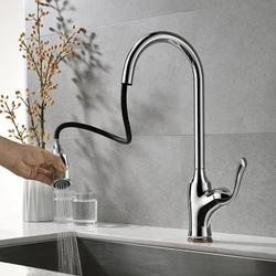 EverDirect Kitchen Faucet, Kitchen Sink Faucet, Sink Faucet, Pull-Down Kitchen Faucets, Bar Kitchen Faucet, Brushed Nickel, Stainless Steel