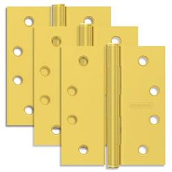 """Schlage 1020 Pack Of Three 4"""" X 4"""" Square Corner Plain Bearing Mortise Hinges"""