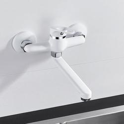 HOTBEST Kitchen Faucet,Kitchen Sink Taps Bathroom Sink Tap Hot and Cold Wall Mounted 2 Hole Mixer Tap Washroom Basin Sink Mixer Water